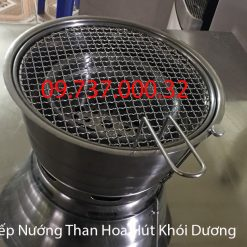bếp nướng than hoa âm bàn hút khói bên trên