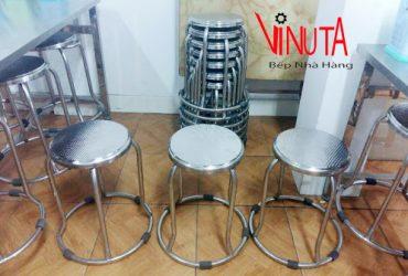bàn ghế inox tròn chuyên dùng cho nhà hàng