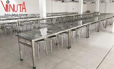 bàn giao bàn ghế phòng ăn khu công nghiệp