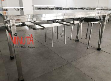 cấu tạo bộ bàn ghế nhà ăn công nghiệp