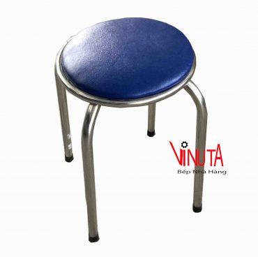 ghế inox mặt tròn