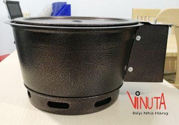 Bếp Nướng Than Hoa âm bàn hút dương bằng sắt có quạt thổi