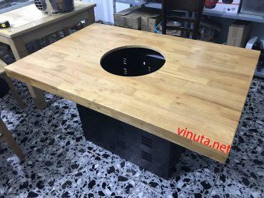 hộp chân bàn bếp lẩu nướng không khói