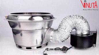 lắp đặt bếp nướng âm bàn hút khói âm