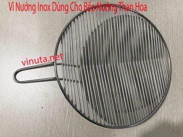 vỉ nướng inox dùng cho bếp nướng than hoa
