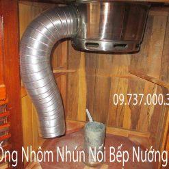 ống nhôm nhún nối bếp nướng