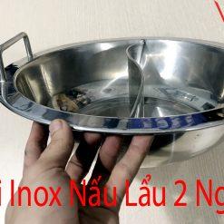 nồi inox nấu lẩu 2 ngăn