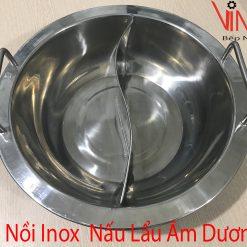 nồi inox nấu lẩu âm dương
