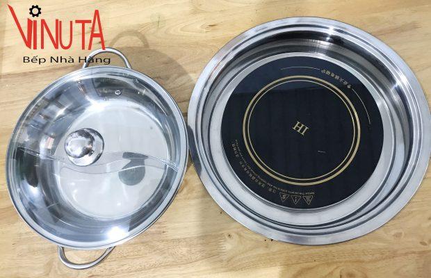 lắp đặt bếp từ âm bàn tròn nhà hàng giá rẻ