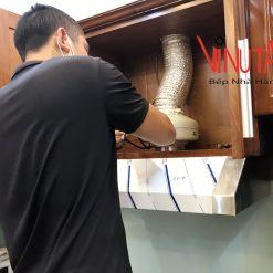 lắp đặt hút khói khử mùi bếp nấu gia đình