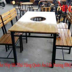 chân bàn ăn hộp sắt nhà hàng quán ăn lẩu nướng bbq buffet hàn quốc