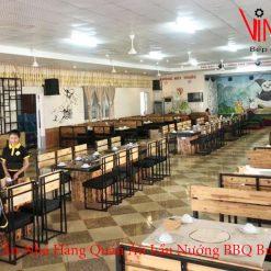 bàn ăn nhà hàng quán ăn lẩu nướng bbq buffet