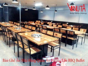 bàn ghế ăn nhà hàng quán ăn nướng lẩu bbq buffet