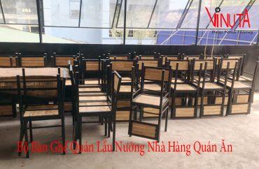 bộ bàn ghế quán lẩu nướng nhà hàng quán ăn