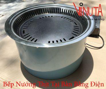 bếp nướng thịt tại bàn bằng điện