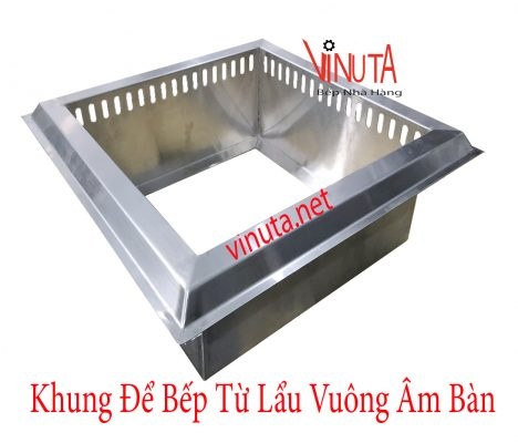 khung để bếp từ lẩu vuông âm bàn
