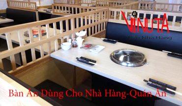 bàn ăn dùng cho nhà hàng quán ăn