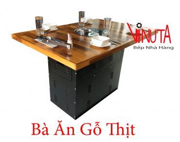 bàn ăn gỗ thịt