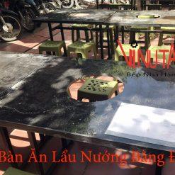 bàn ăn lẩu nướng bằng đá