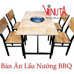 bàn ăn lẩu nướng bbq
