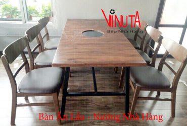 bàn ăn lẩu nướng nhà hàng