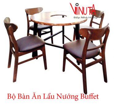 bộ bàn ăn lẩu nướng buffet