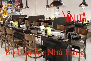 bộ bàn ăn nhà hàng