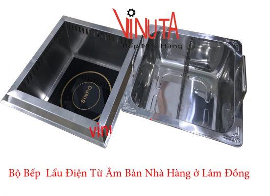 bộ bếp lẩu điện từ âm bàn nhà hàng ở Lâm đồng