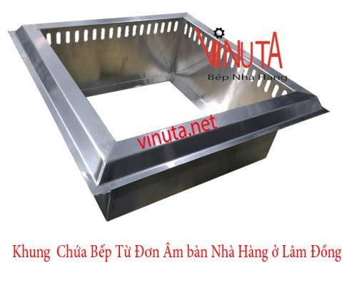 khung chứa bếp từ đơn âm bàn nhà hàng ở lâm đồng