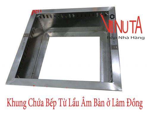 khung chứa bếp từ lẩu âm bàn ở lâm đồng