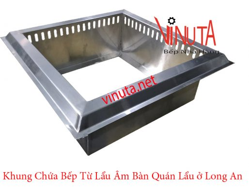 khung chứa bếp từ lẩu âm bàn quán ăn ở long an