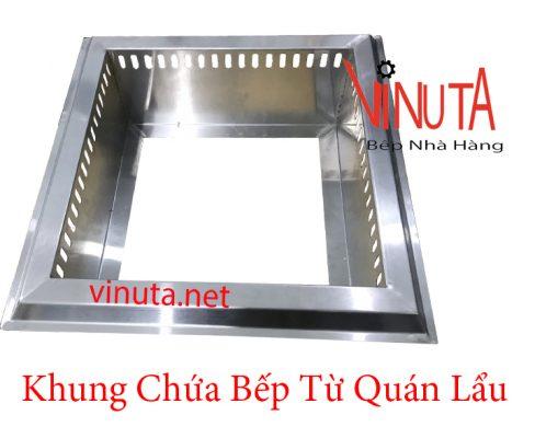 khung chứa bếp từ quán lẩu