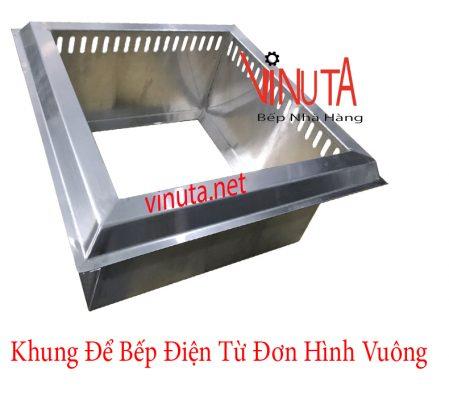 khung để bếp điện từ đơn hình vuông