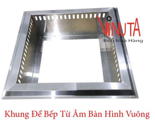 khung để bếp từ âm bàn hình vuông