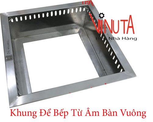 khung để bếp từ âm bàn vuông