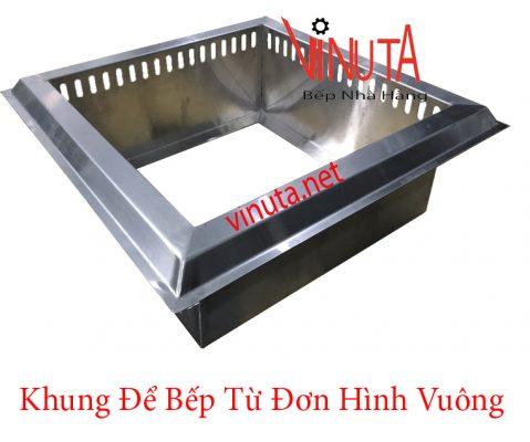 khung để bếp từ đơn hình vuông
