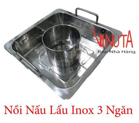 nồi nấu lẩu inox 3 ngăn