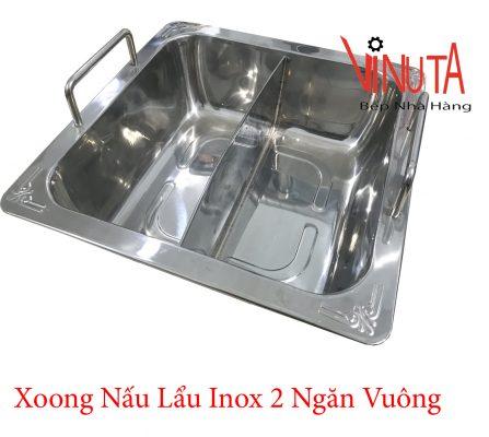 xoong nấu lẩu inox 2 ngăn vuông tại đồng nai