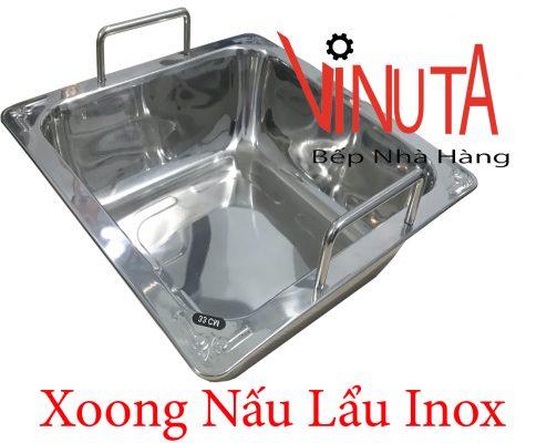 xoong nấu lẩu inox vuông