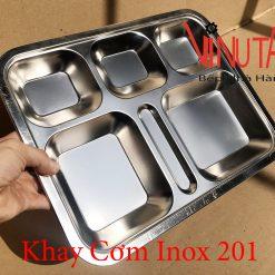 khay cơm inox 201