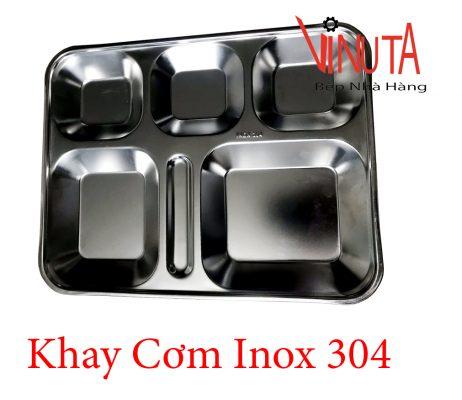 khay cơm inox 304
