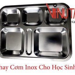 khay cơm inox cho học sinh