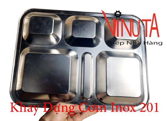 khay đựng cơm inox 201