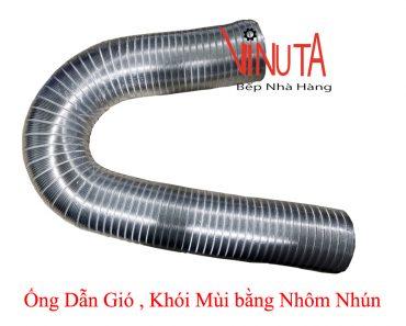 ống dẫn gió khói mùi bằng nhôm nhún