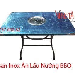 bàn inox ăn lẩu nướng bbq