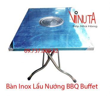 bàn inox lẩu nướng bbq buffet