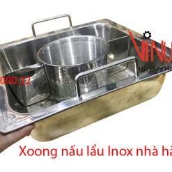 xoong nấu lẩu inox nhà hàng