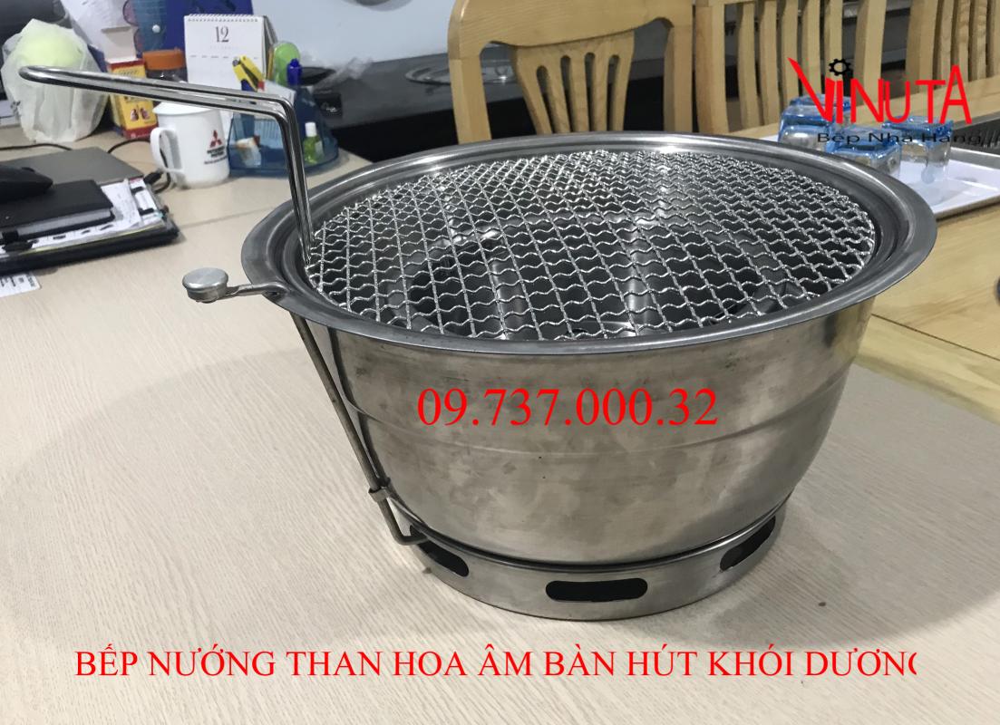 bếp nướng than hoa âm bàn hút khói dương