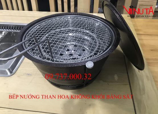 bếp nướng than hoa không khói bằng sắt