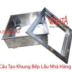 cấu tạo khung bếp lẩu nhà hàng